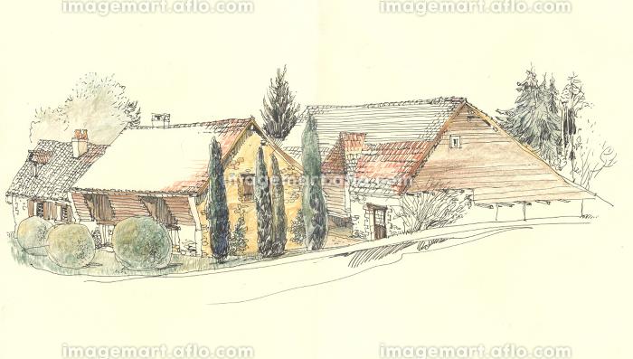 Rural landscape old houseの販売画像