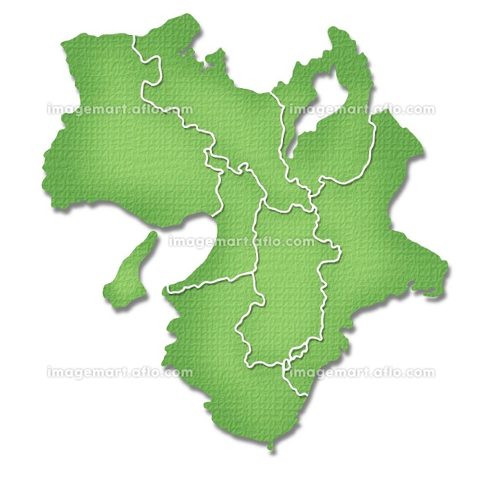 ペーパークラフト調の近畿地方の地図の販売画像