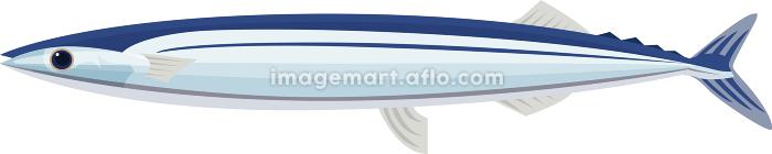 イラスト素材 さんま サンマ 秋刀魚 魚 食材 アイコン ベクターの販売画像