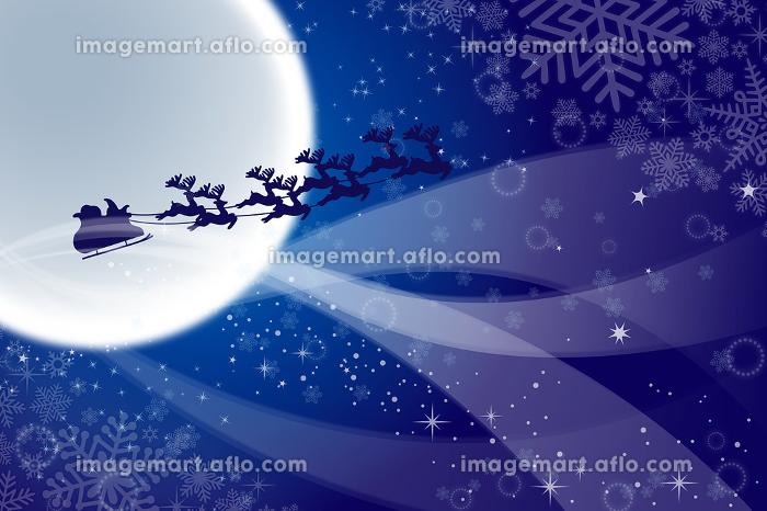 サンタクロースとトナカイのそり イラスト