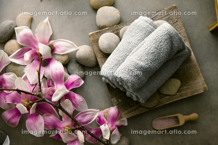 Spa products in natural settingの販売画像