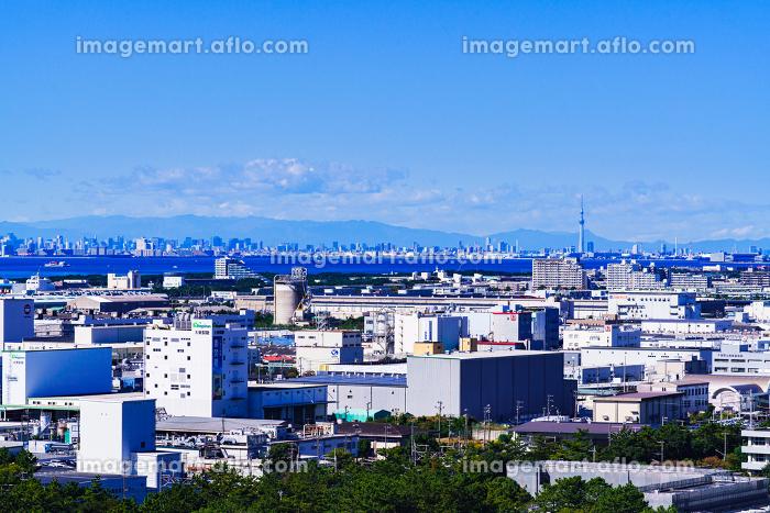千葉市街 東京湾 東京都の沿岸部 【東京湾岸の都市風景】の販売画像
