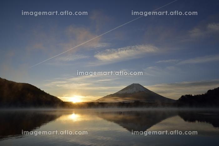 精進湖より望む富士の販売画像