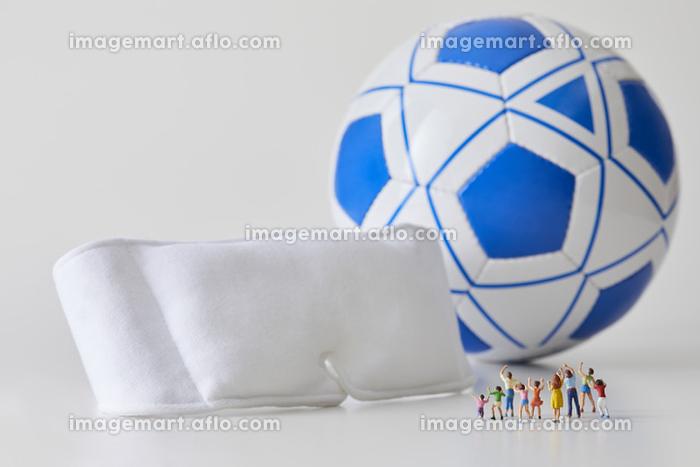 フィギュア ブラインドサッカーを応援する観客の販売画像