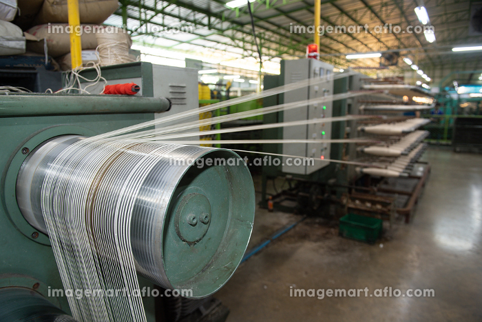 Production of nylon thread in a factoryの販売画像