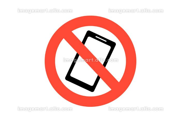 携帯電話禁止アイコン ベクターイラストの販売画像