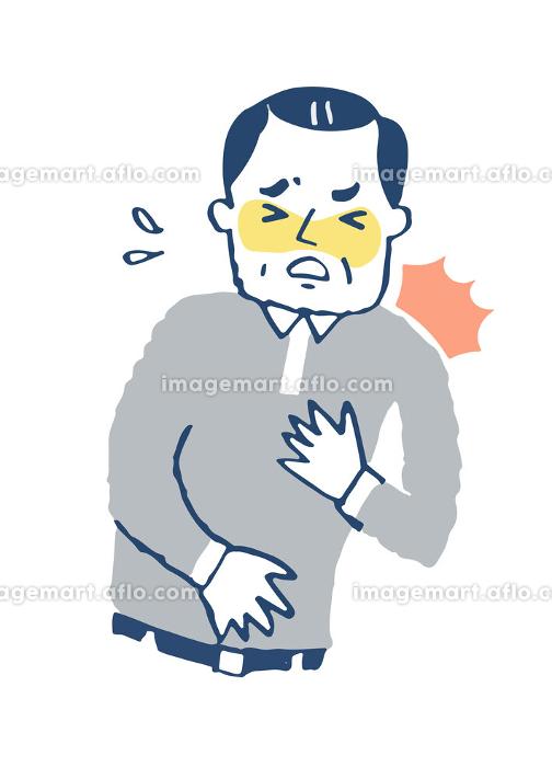 胸が苦しい男性の販売画像