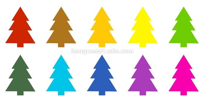 10 colourful fir trees