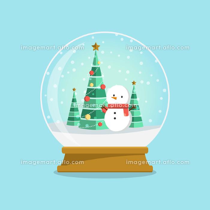 スノードーム 雪だるまとクリスマスツリーの販売画像