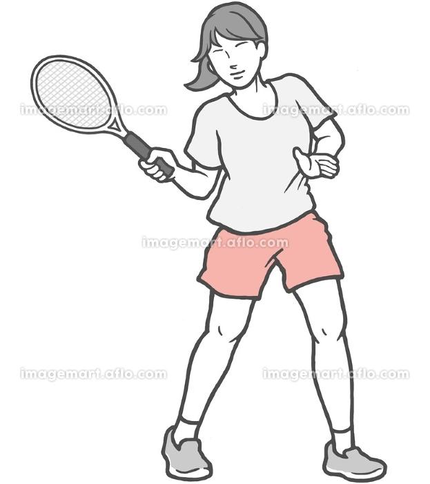 テニス 若い女性 女性の販売画像