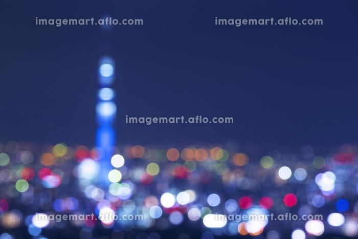 東京都 豊島区 東京スカイツリーと街の夜景イメージ