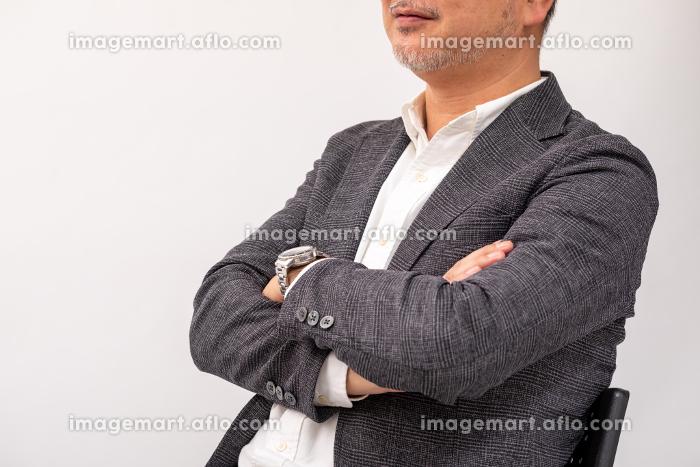 語るビジネスマンの販売画像