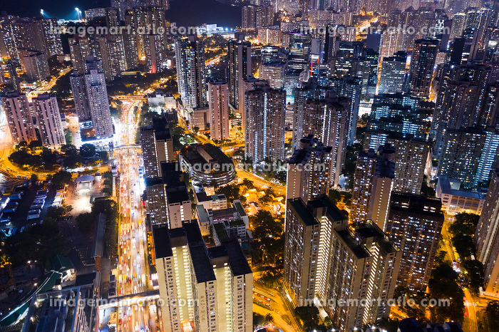 Top view of Hong Kong residential district