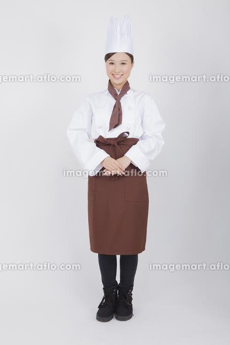 女性料理人のポートレイト
