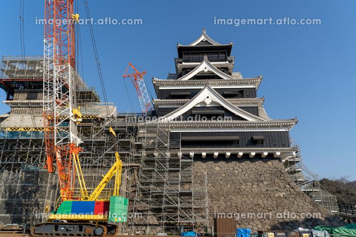 復旧・復元工事中の熊本城(2019年12月撮影)の販売画像