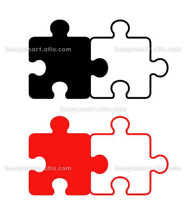 繋げた2ピースパズルの販売画像