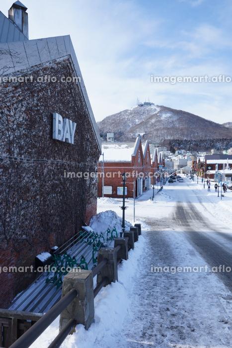 雪景色の観光地の販売画像