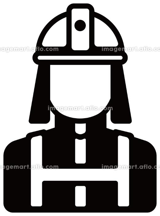 労働者アイコンイラスト / 消防士・消防署員の販売画像