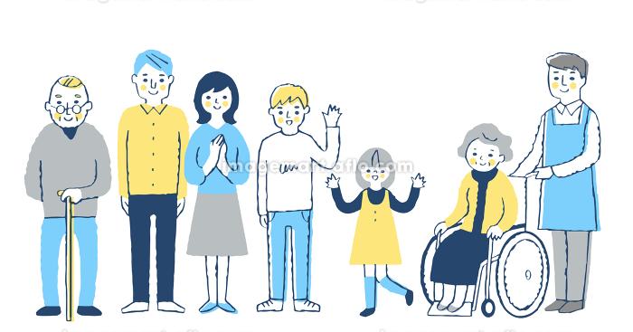 三世代家族の販売画像