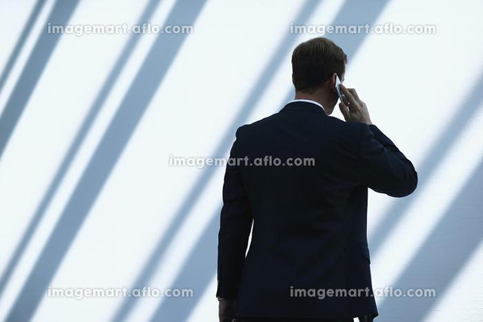 電話をするビジネスマンの販売画像