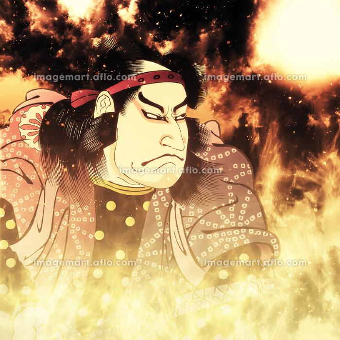 浮世絵 歌舞伎役者 その11 炎バージョンの販売画像