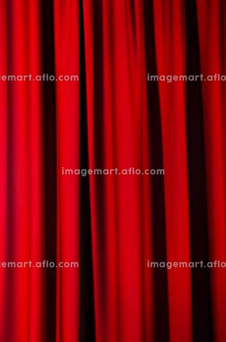 Red curtains as a background