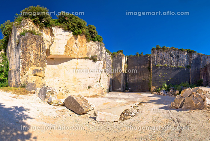 Historic Roman quarry Cave Romanae in Vinkuran view