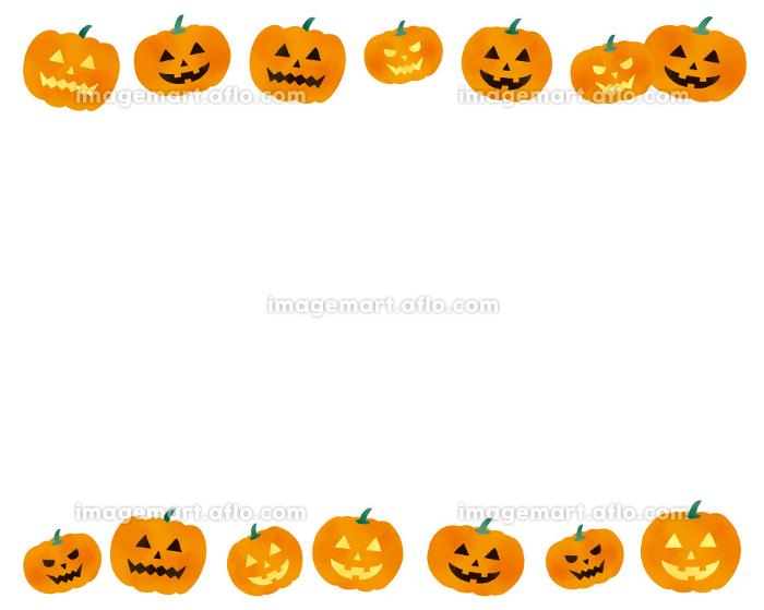 ハロウィンのかぼちゃのイラストレーションセットの販売画像