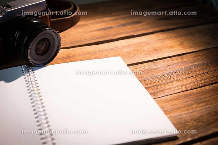 Open notepad next to the camera