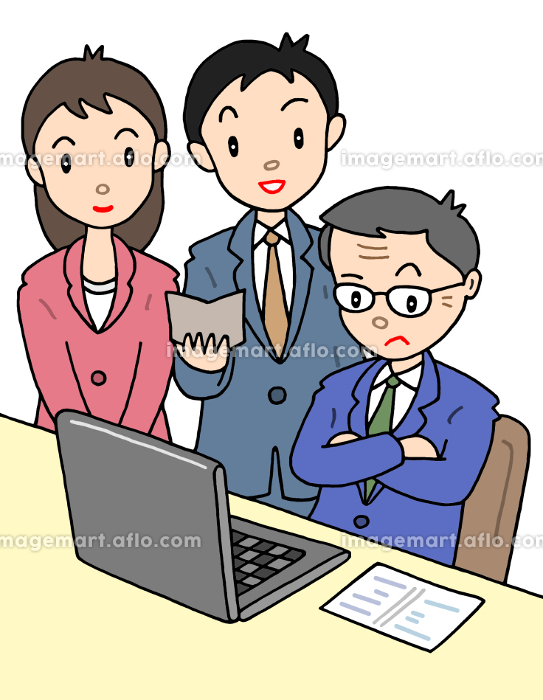 上司と部下・部下からの提案の販売画像