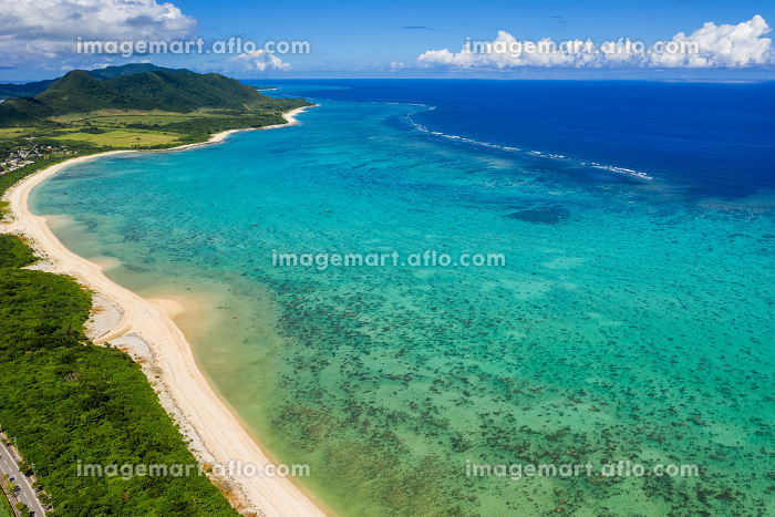 Aerial view of Ishigaki Island of Okinawa