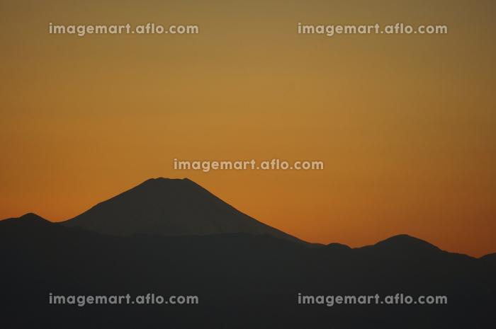 夕方の富士山の販売画像