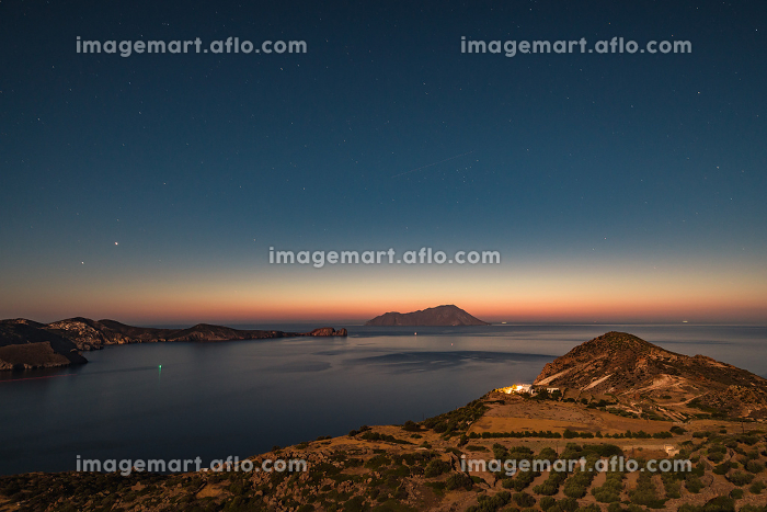 Night landscape, Greek islands