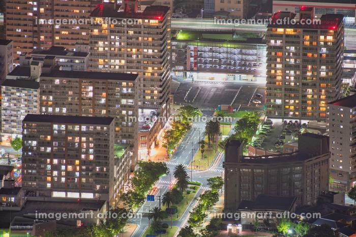 皿倉山展望台から望む新日本3大夜景(北九州市)の販売画像