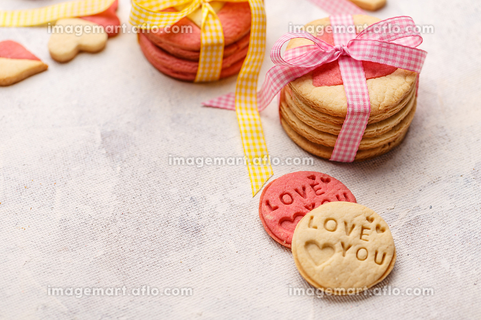 Biscuits stamped with love you