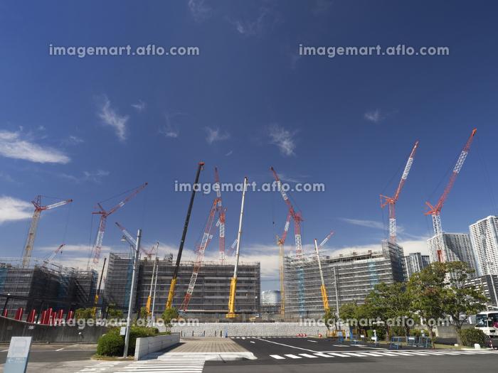 晴海埠頭の工事現場の販売画像