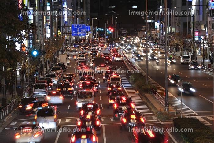 青山通りの夜景の販売画像