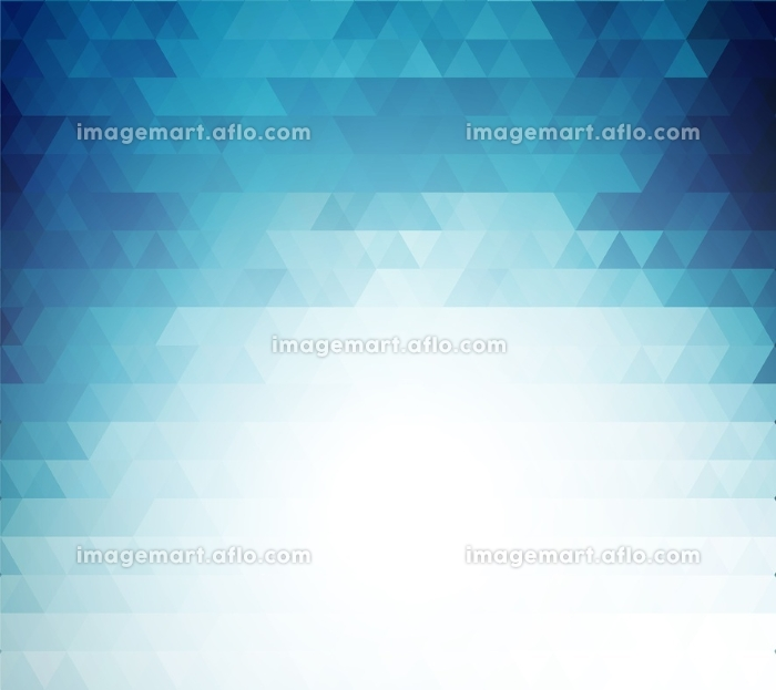 Vector color abstract geometric banner with triangle.. Vector color abstract geometric banner with triangle. For business and technology brochure, poster, leaflet design. Blue triangles mosaic patternの販売画像