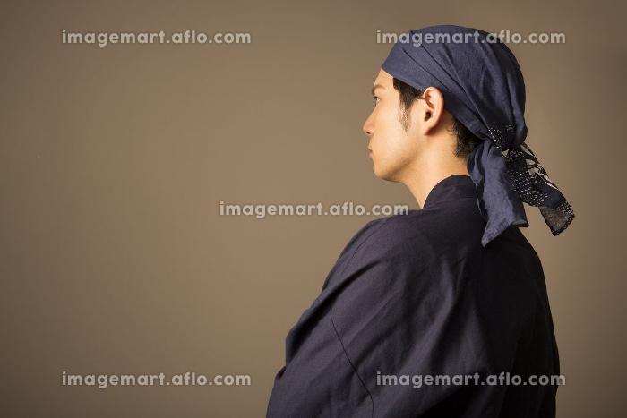 和食料理人の横顔の販売画像