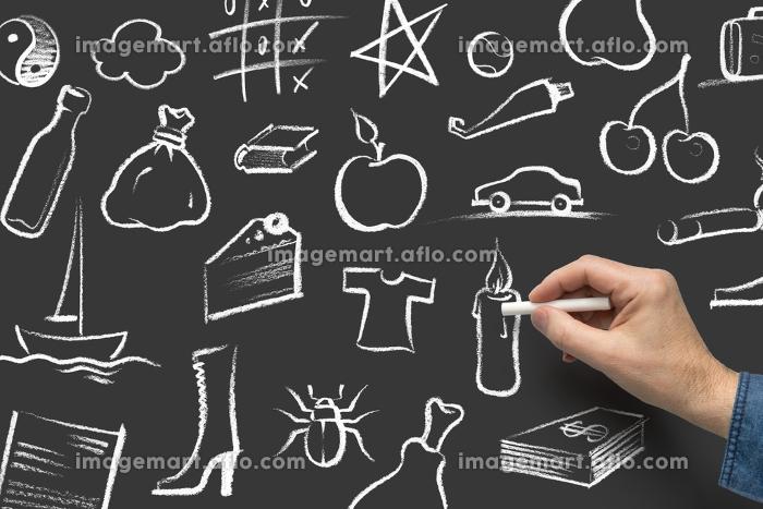 crayon painted symbolsの販売画像