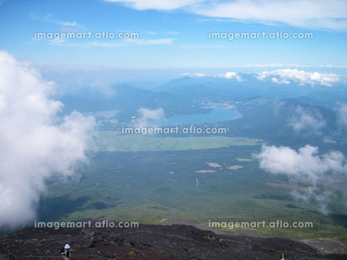 富士山登山からの風景の販売画像