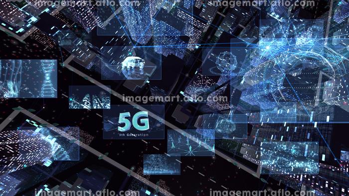 デジタル 通信 ネットワーク テクノロジー 都市 街 データ ビル 建物 オフィス ビジネス 背景の販売画像