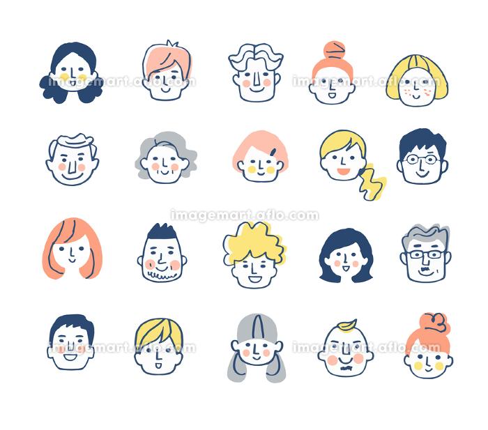 様々な人物の顔 セットの販売画像