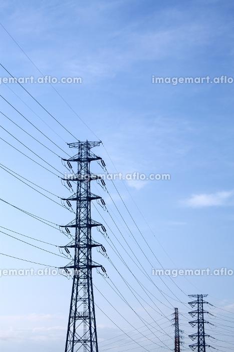 鉄塔と送電線 埼玉県の販売画像
