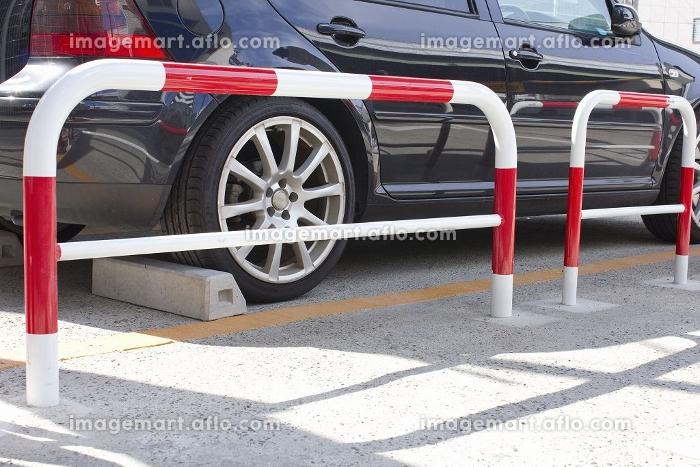平面駐車場と柵