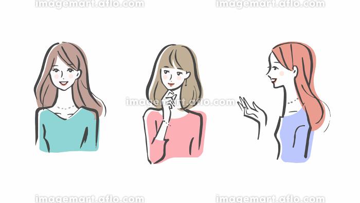 女性 3人セットの販売画像