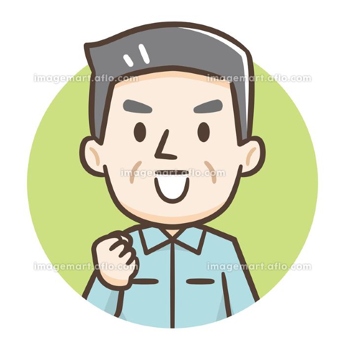 シニア男性 作業服の販売画像