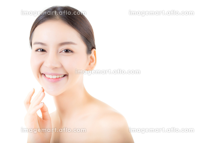 Beautiful girl with makeup, woman and skin care concept / attrac