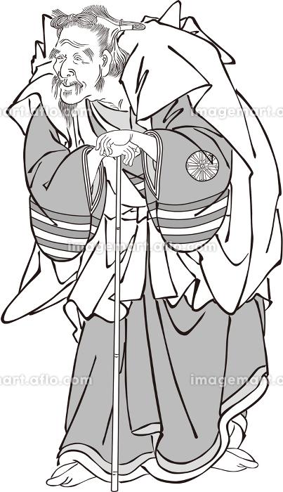 浮世絵 歌舞伎役者 その34 白黒の販売画像