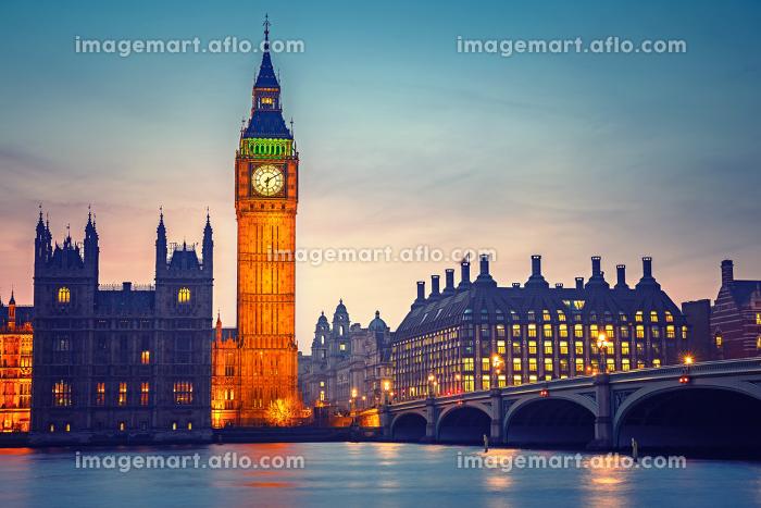 Big Ben and westminster bridge , Londonの販売画像